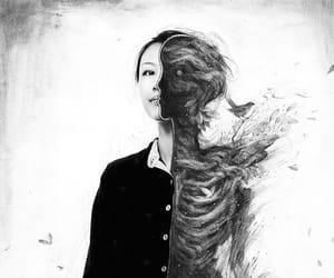 art, illustration, and death image