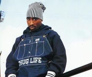 gangster, tupac, and thug life image
