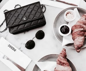 food, chanel, and croissant image