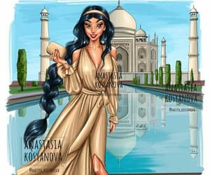 disney, jasmine, and india image