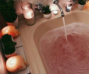 aesthetics, bubble bath, and candles image