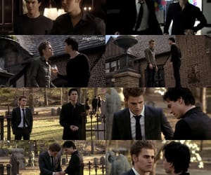 brothers, cemetery, and damon salvatore image