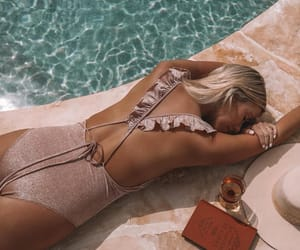 fashion, pool, and swimsuit image