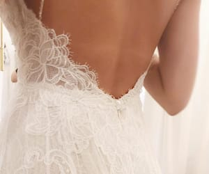 bridal, bride, and lace image