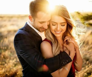 beautiful, couple, and happiness image