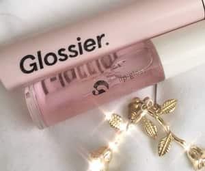 glossy, makeup, and pink image