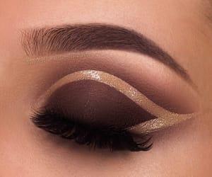 beautiful, eyeshadow, and glitter image