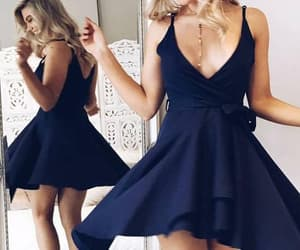 homecoming dresses, homecoming dress, and v-neck homecoming dresses image