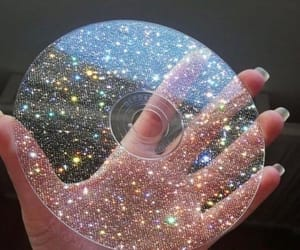 aesthetic, sparkle, and cd image