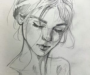 drawing, art, and girl image
