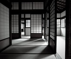 japan, black and white, and architecture image