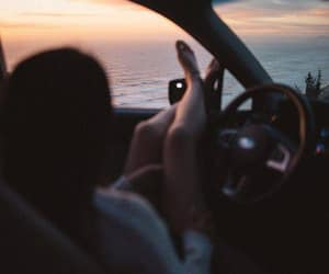 car, photography, and sea image