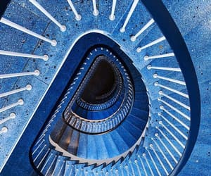 blue, photography, and staircase image