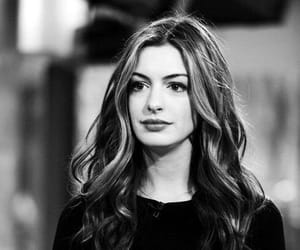 Anne Hathaway, anne, and black and white image