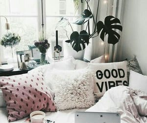 bed, windows, and bedroom image