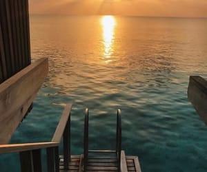 sea, sunset, and nature image