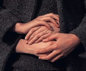 couple, hands, and hearts image