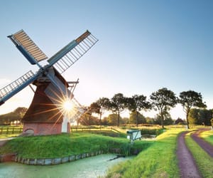 holland, netherlands, and windmill image