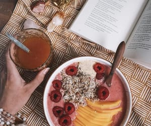 book, breakfast, and delicious image