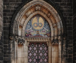 aesthetic, cathedral, and door image