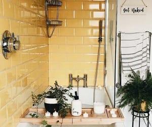 yellow, bathroom, and home image