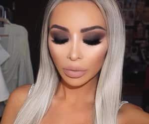 eyebrows, eyeliner, and lipgloss image