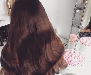 brown hair and long brown hair image