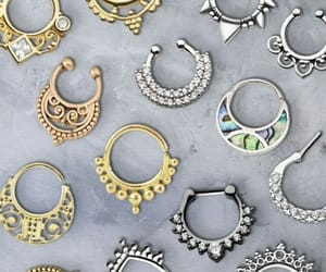 fashion, piercing, and silver image