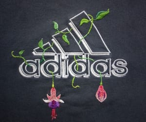 adidas, embroidery, and flowers image