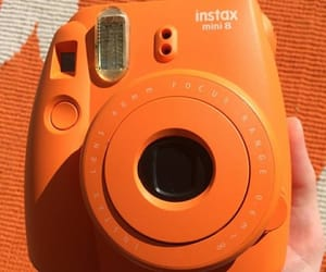 orange, aesthetic, and polaroid image
