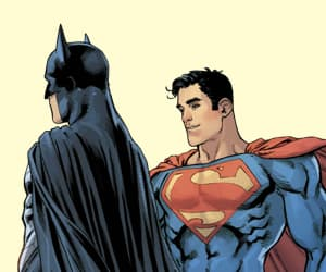 batman, bruce wayne, and clark kent image