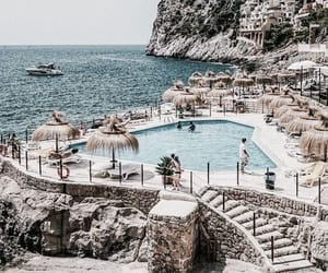 travel, beach, and pool image