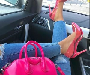 bag, pink shoes, and Givenchy image