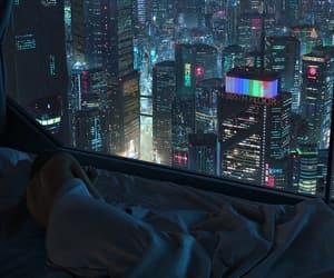 city, cyberpunk, and futuristic image