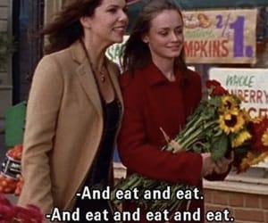 girl and eat image