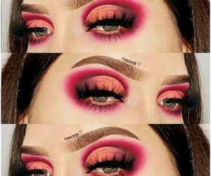 aesthetic, smokey eyes, and cut crease image