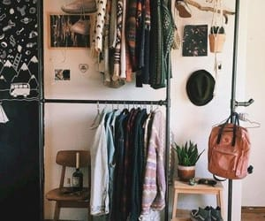 clothes, room, and bedroom image