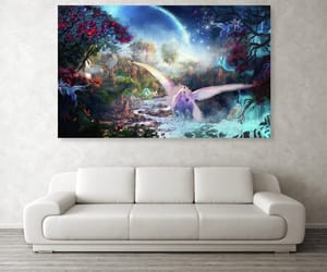 home decor, poefashion, and scenic painting prints image