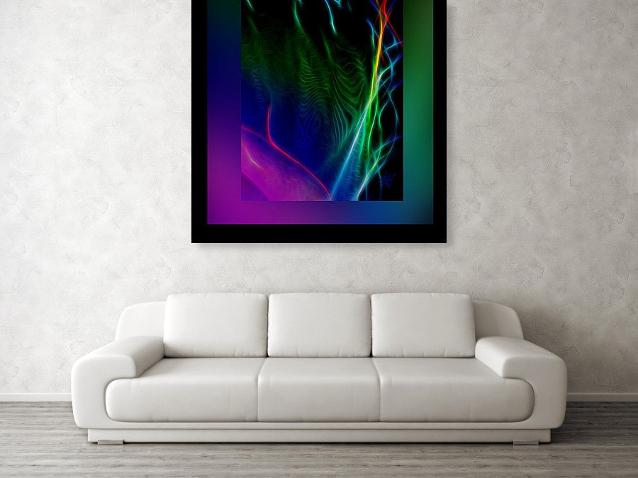 handpainted, fire art, and neon color image