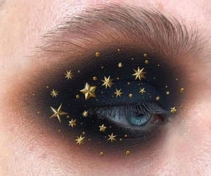 eyes, makeup, and stars image