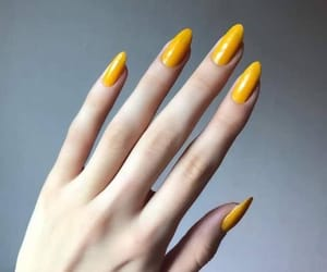 nails, girl, and yellow image