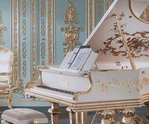 piano, gold, and royal image