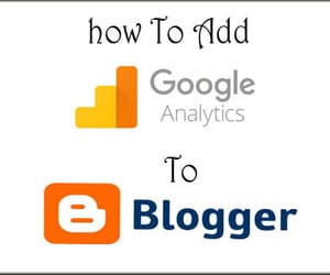 blogger, blogspot, and google anlytics image