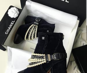 boots, chanel, and shoes image