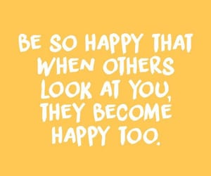 quotes, yellow, and happy image