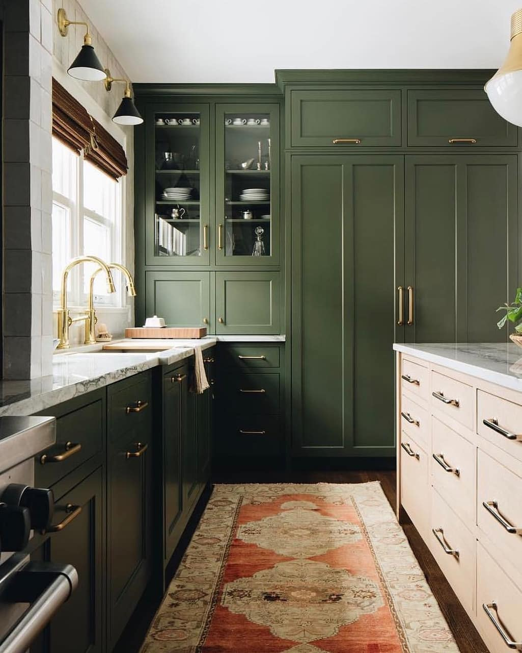 Schoolhouse On Instagram Olive Green Brass Accents