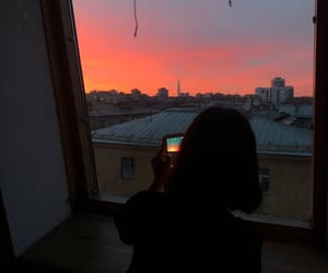 atmosphere, brunette, and evening image