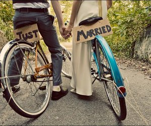 bike, married, and cute image