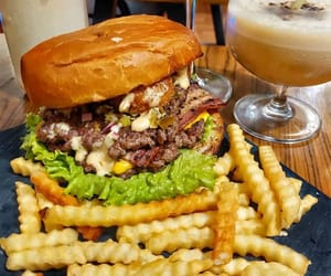 beef, burger, and cheese image