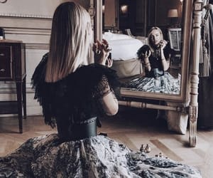 girl, fashion, and mirror image